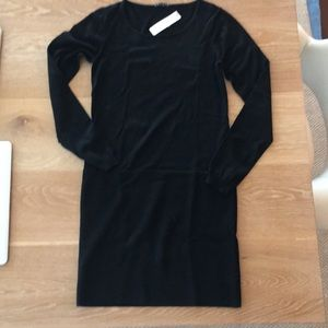 Theory black wool sweater dress